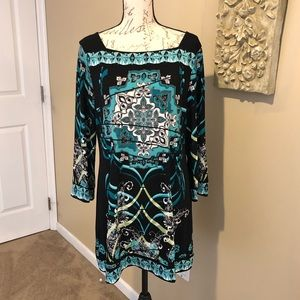 Style & Co. Printed Dress. Size Large